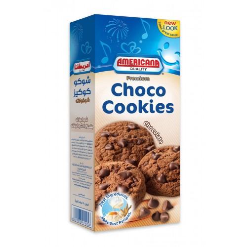 Choco Cookies Bakeet Double Chocolate Chip 180 GM AMERICANA