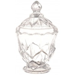 Royalford Glass Candy Pot - 2 Pieces, Clear