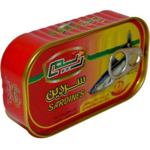 ريم سردين بزيت الصويا والفلفل الحار ,125 غرام