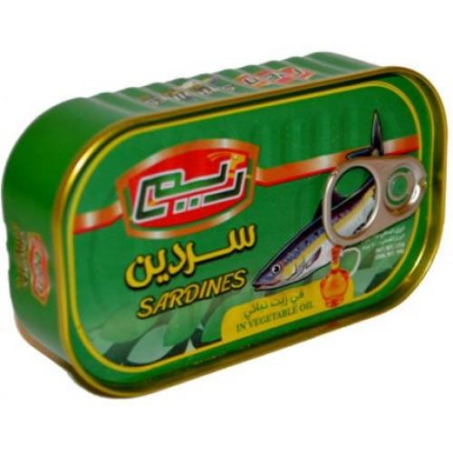 ريم صندوق سردين بزيت الصويا ,125 غرام