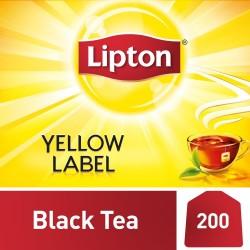 ليبتون شاي اسود العلامة الصفراء - 200 كيس
