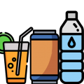 Water, drinks and juices