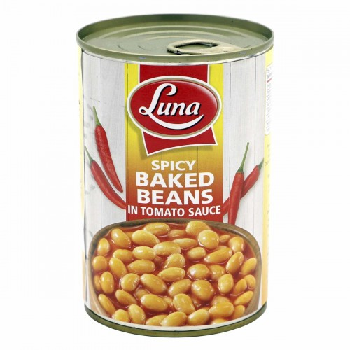 LUNA SPICY BAKED BEANS IN TOMATO SAUCE 400 G