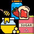 المربى والعسل والسكر والمحليات
