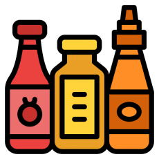 Herbs, spices, seasonings, sauces and pickles
